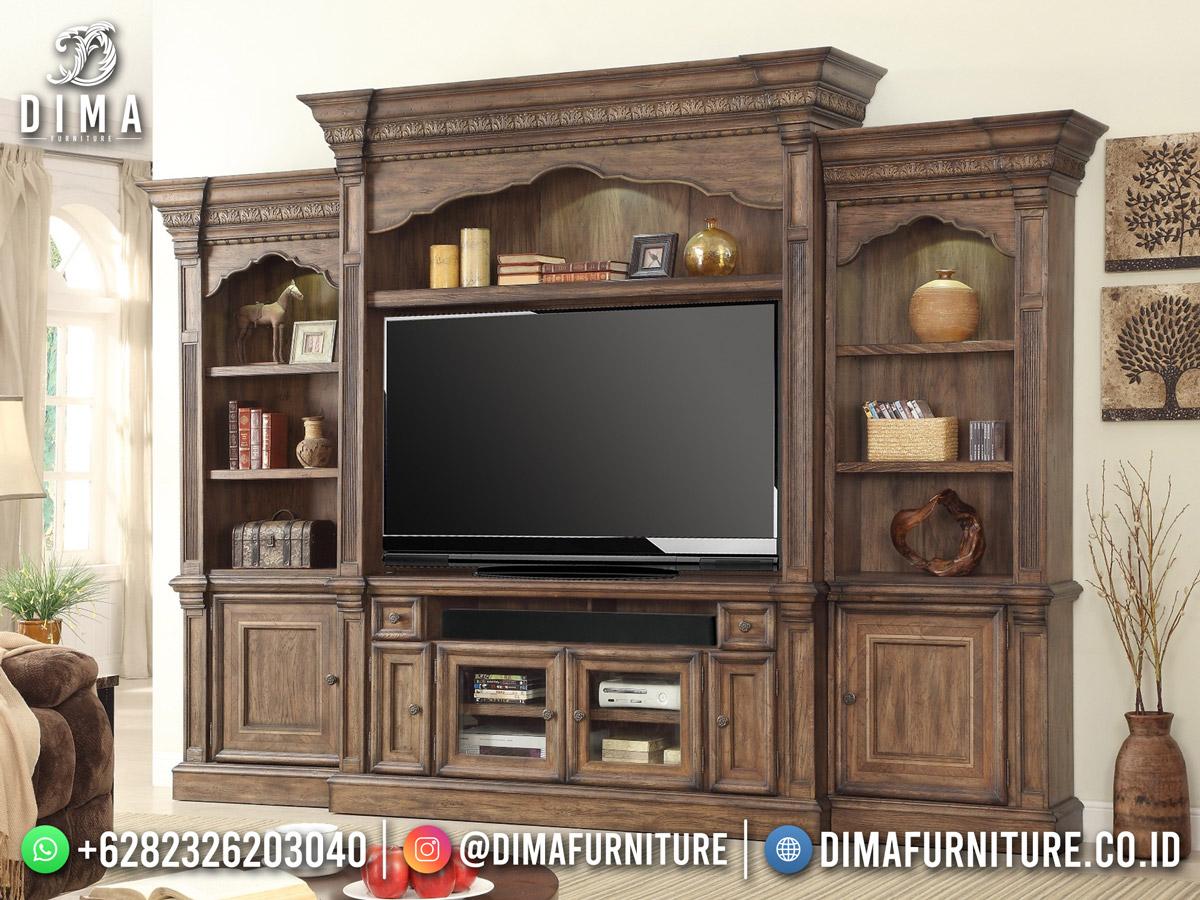 Harga Bufet TV Terbaru Jepara Gaya Vintage Elegant Design DF-1798
