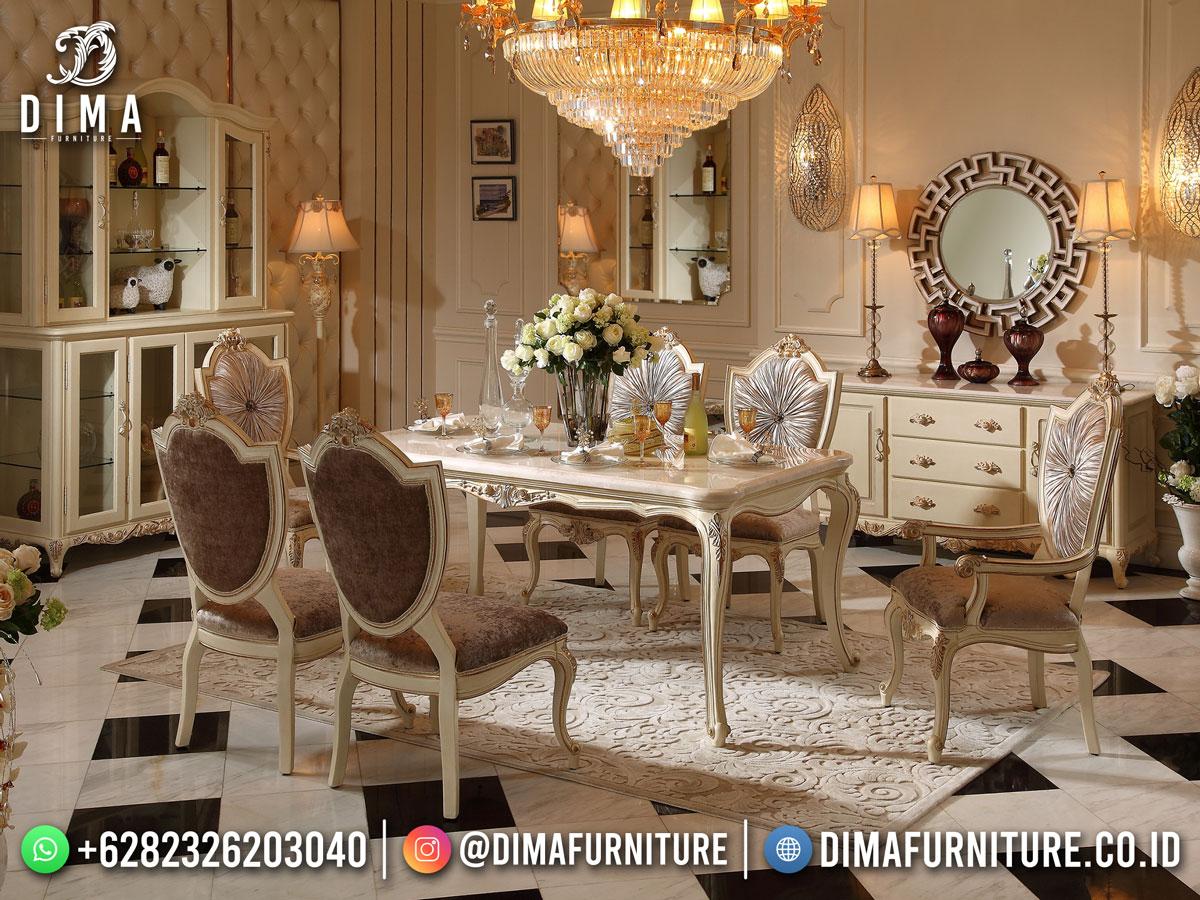 Harga Meja Makan Mewah Gaya Eropa Klasik Furniture Jepara DF-1747
