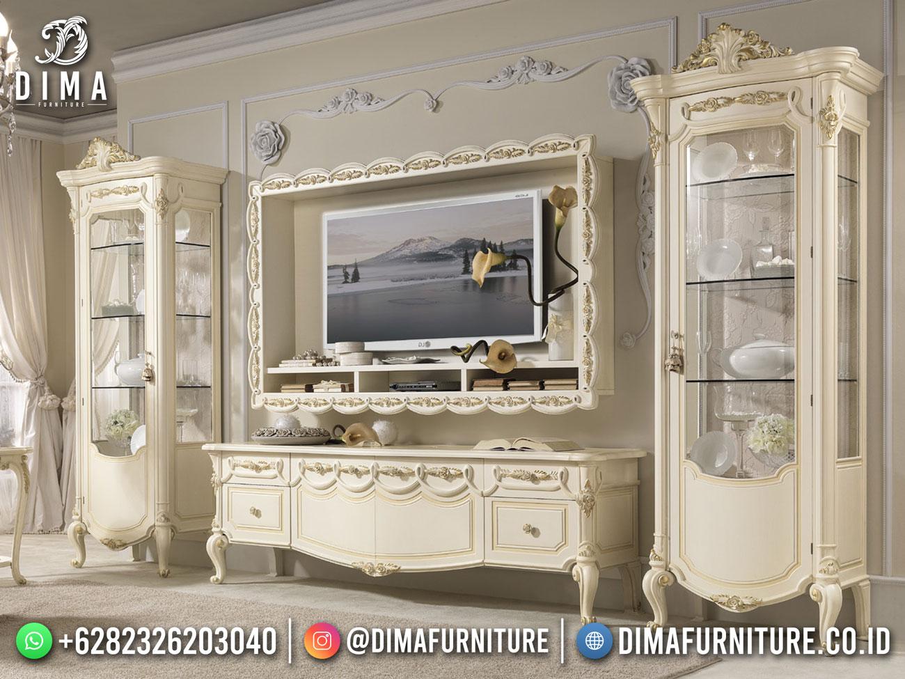 Jual Bufet TV Mewah Terbaru Luxury Design Interior Inspiring DF-1757