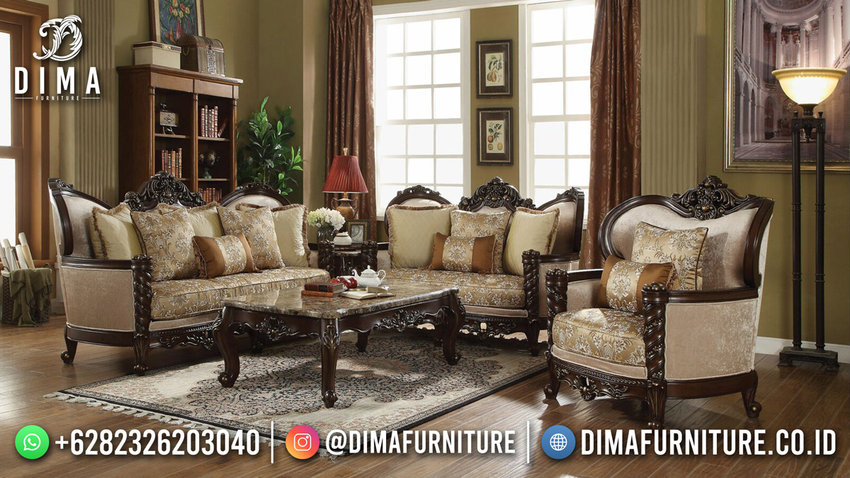 Jual Sofa Terbaru Jepara Luxury Classy Furniture Jati DF-1842
