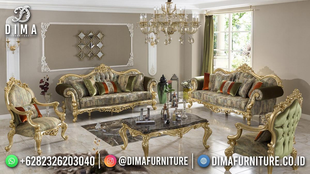 Terbaru Kursi Tamu Mewah Classy Elegant Golden Best Quality DF-1837