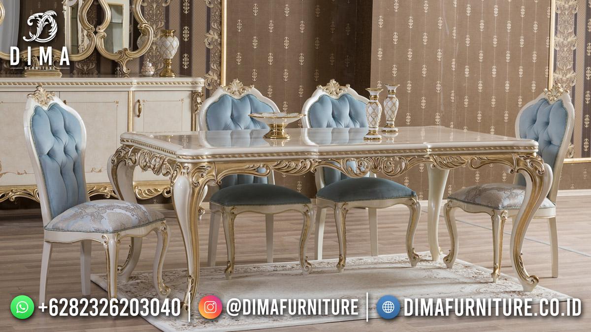 Termewah Meja Makan Terbaru White Duco Best Quality Df-1804