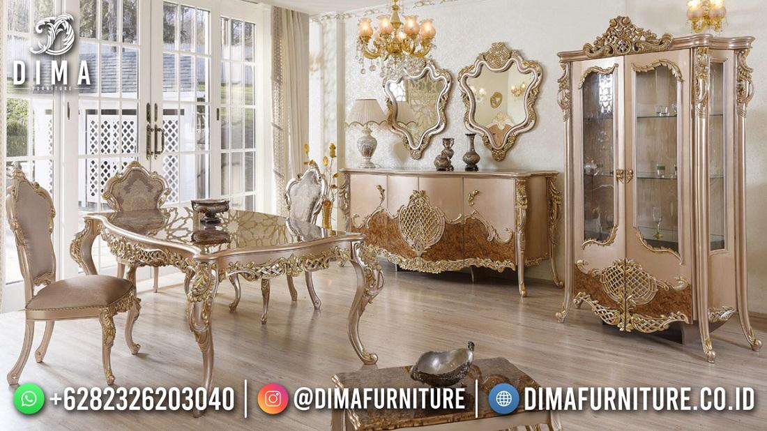 Amazing Beauty Carving Meja Makan Mewah Best Sale DF-1849