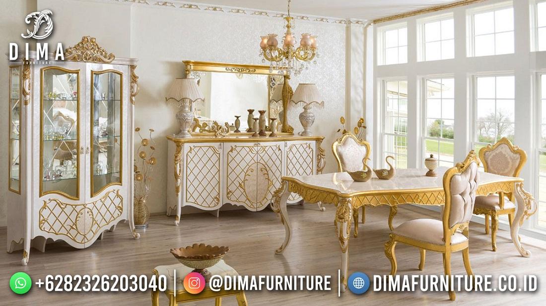Beautiful Gold Duco Meja Makan Terbaru Desain Mewah Kota Bandung DF-1850