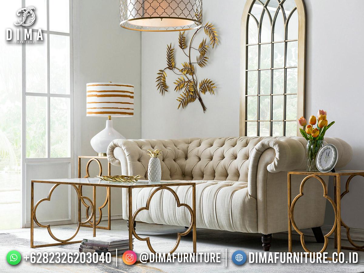 Desain Sofa Tamu Minimalis Classical Royal Foam Comfortable DF-1868