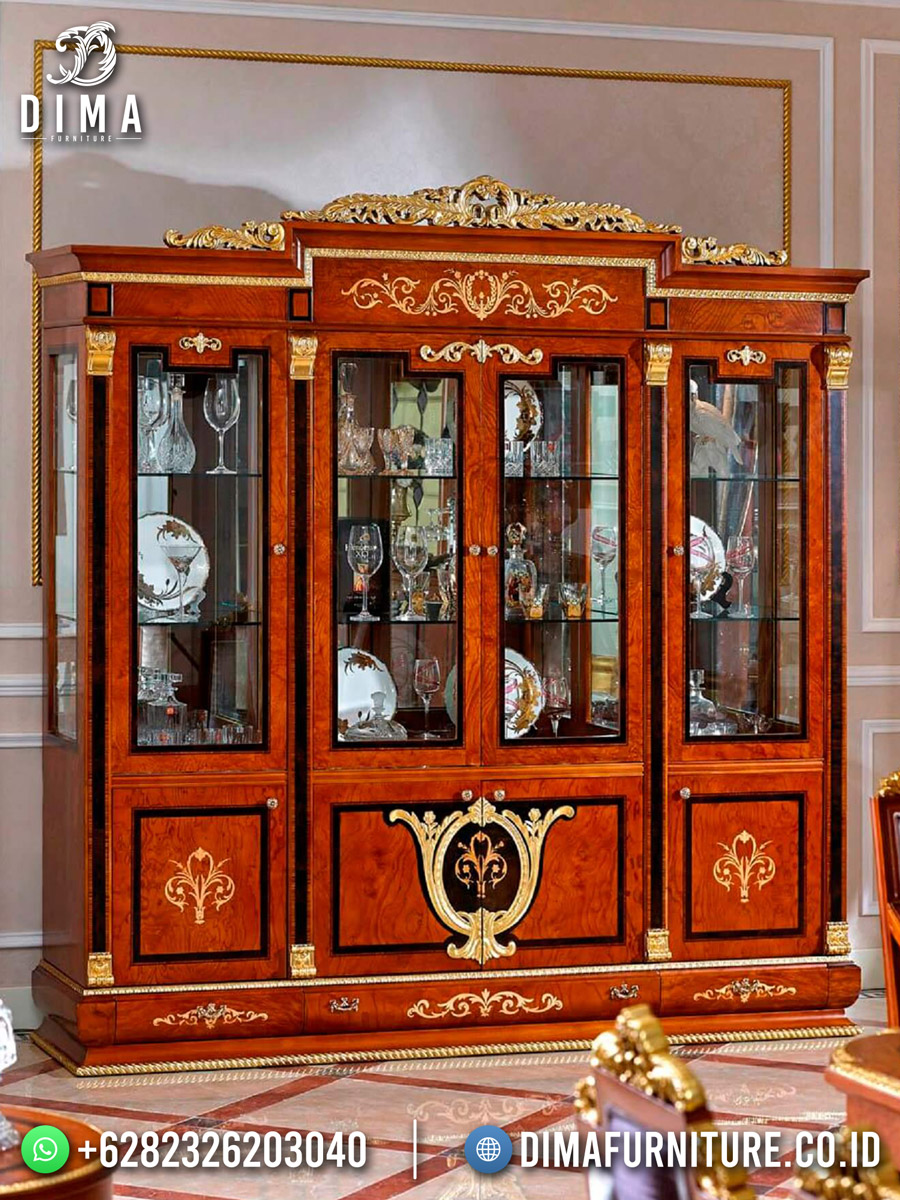 Elegant Style Lemari Pajangan Terbaru Jati Jepara Best Quality DF-1856