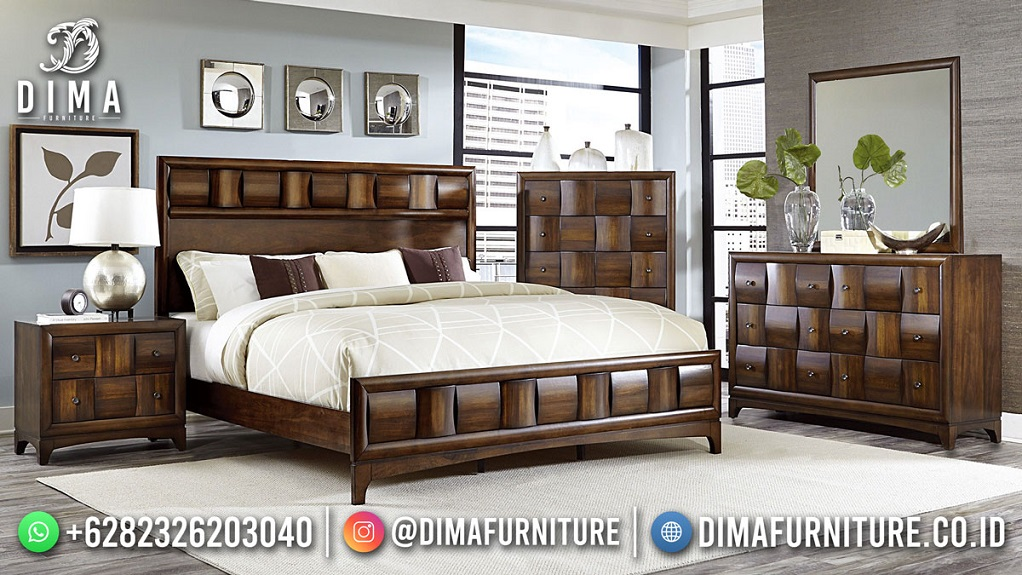 Harga Tempat Tidur Minimalis Jepara Jati Model Square Best Quality DF-1903