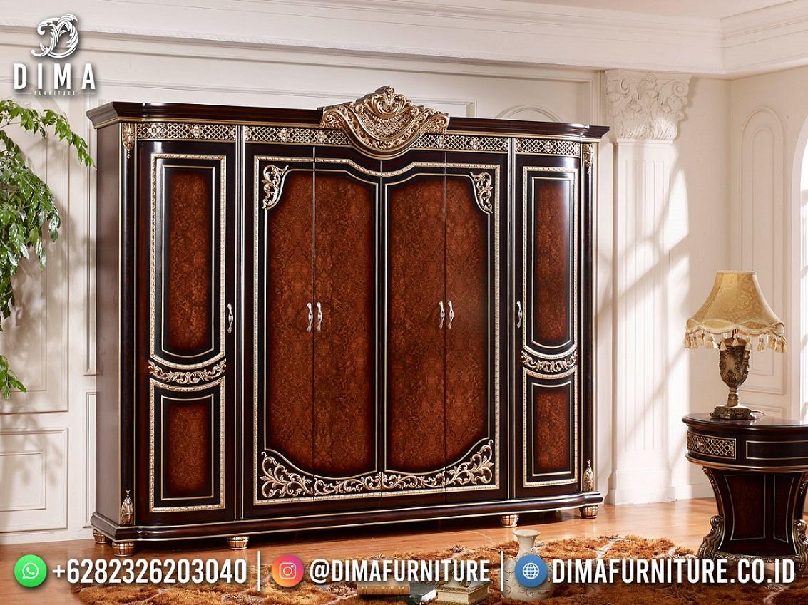 Jual Lemari Pakaian Mewah Terbaru Jati High Quality Solid Wood DF-1872