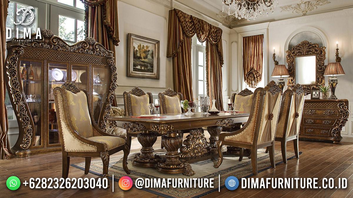 Kota Jepara Set Meja Makan Ukiran Termewah Exclusive Detail Best Quality DF-1883