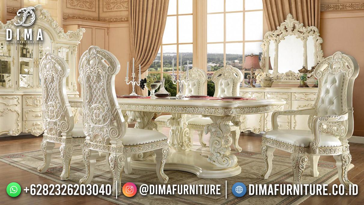 Luxury Carving Meja Makan Terbaru Mewah Modern High Quality DF-1922