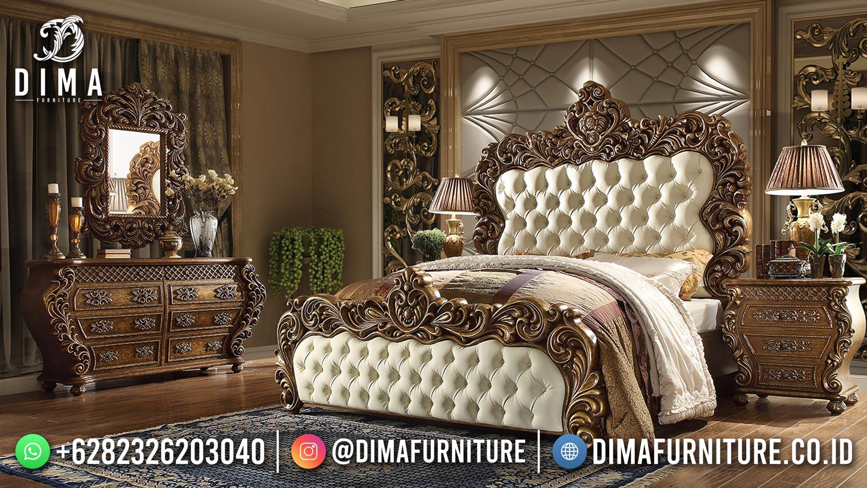 Model Furniture Jepara Kamar Set Mewah Modern Dipan Sultan DF-1951