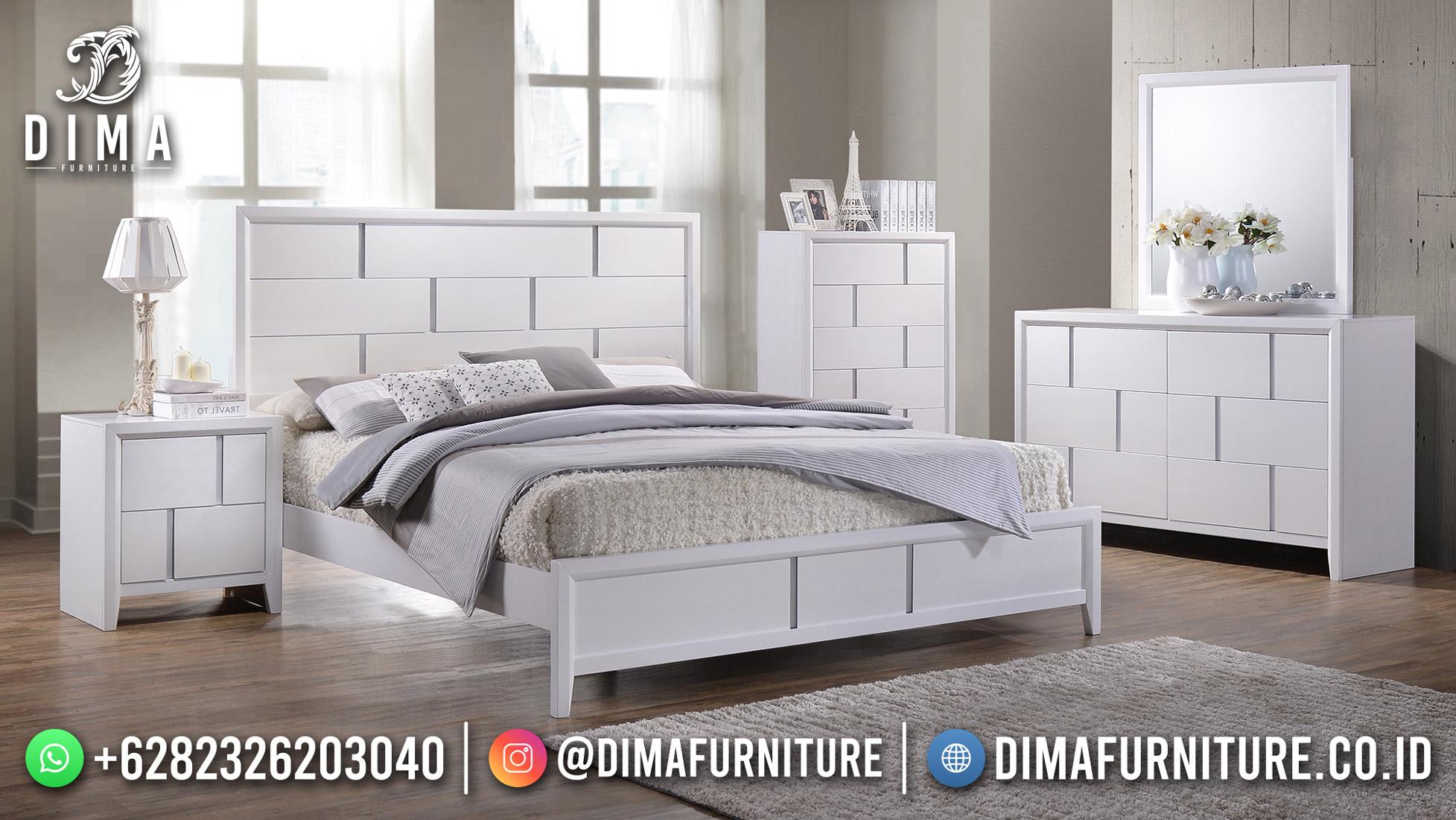 White Duco Kamar Set Minimalis Terbaru Dipan Modern DF-1962